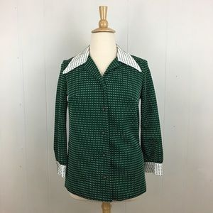 True Vintage 79's Dotted Button Down Shirt